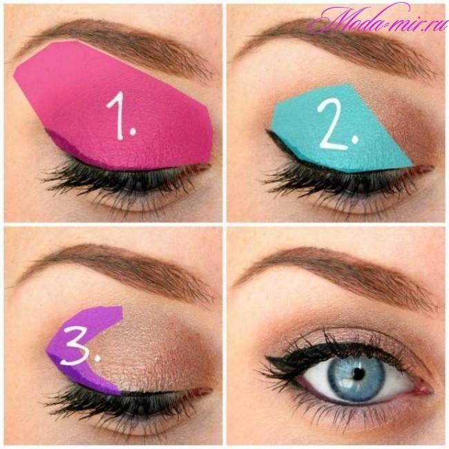 правила макияжа глаз с картинками чем