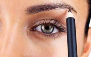 Как нарисовать себе брови карандашом