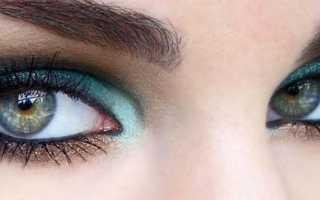 Легкий смоки айс для зеленых глаз