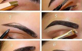 Как правильно рисовать брови тенями поэтапно