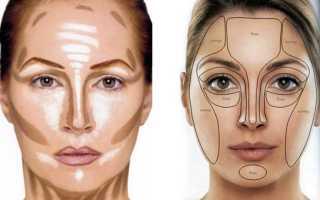 Как правильно накрасить лицо