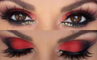 Красные тени для глаз