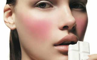Как нанести румяна на худое лицо