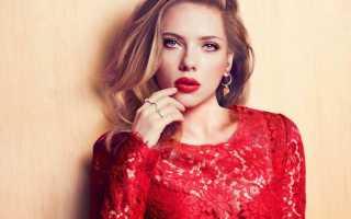 Макияж под красное платье для шатенок