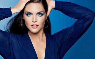 Макияж под синее платье для серых глаз
