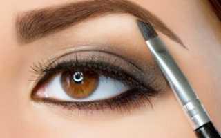 Как правильно рисовать брови тенями