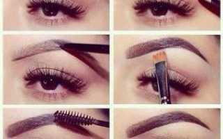 Как накрасить брови карандашом для глаз