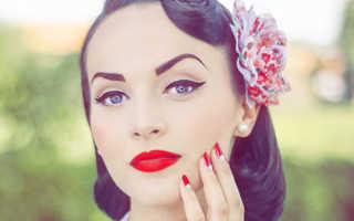 Стиляги макияж и прически