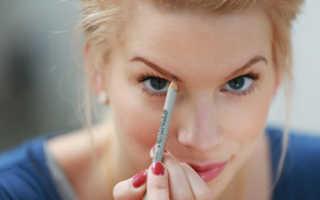 Как правильно подчеркнуть брови карандашом