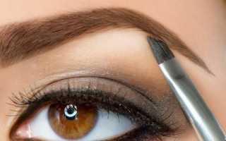Как накрасить тонкие брови