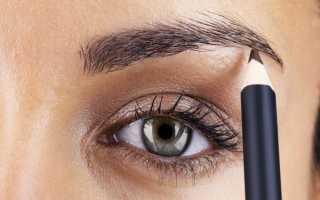 Брови как правильно придать форму карандашом