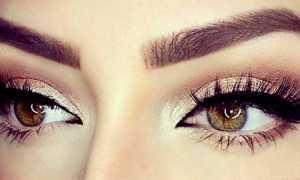 Форма бровей для маленьких глаз