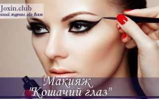 Кошачий глаз макияж пошагово