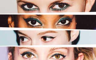 Зеленый карандаш для карих глаз
