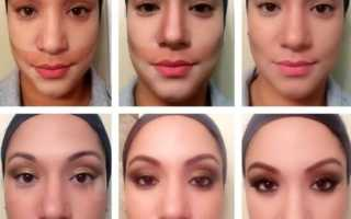 Коррекция лица макияжем пошагово