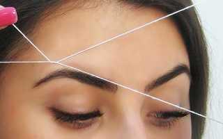 Как корректировать брови ниткой