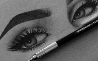Как рисовать брови карандашом поэтапно на бумаге