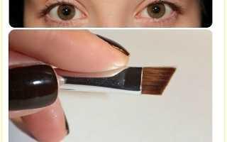Как правильно красить брови воском и тенями