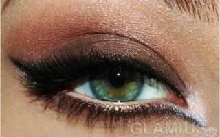 Вечерний макияж в коричневых тонах