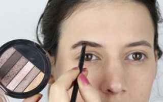 Как нарисовать брови тенями поэтапно